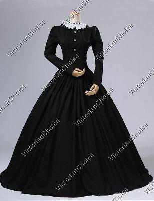 Victorian Gothic Dress Penny Dreadful Steampunk Vampire Halloween Costume N 316 - Women's Victorian Vampire Goth Dress Halloween Costume