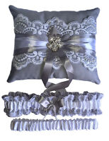 Wedding garters and ring pillows