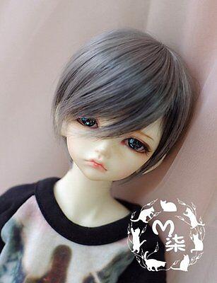 1/4 7-8 Bjd Wig Dal/ Pullip BJD SD MSD DOD LUTS Dollfie Doll Wigs Gray mix black