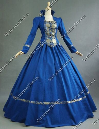 Renaissance Winter Princess Ball Gown Gothic Game of Thrones Queen Dress 111