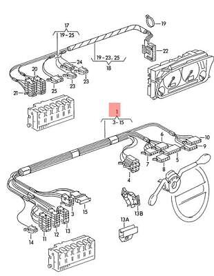 Genuine VW wiring harness for steering column combination switch 6K0971063J
