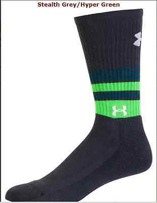 Under Armour AllSeasonGear Golf Crew Socks Mens  Large FOR SHOES 9-12.5