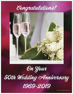 - Congratulations on Your 50th Wedding Anniversary Magnet 2019