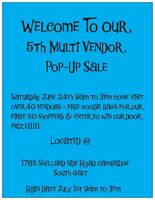 5th Multi Vendor Summer Pop-Up Garage Sale
