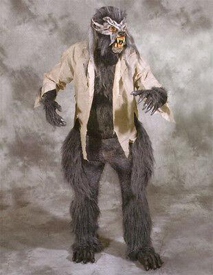 Werwolf Nightcrawler Erwachsene Halloween Kostüm Grau Maske Handschuhe Brust