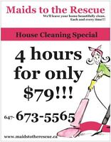 4 hrs foronly $79!!! Great House Cleaning Special.  Call today