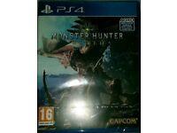 Monster Hunter world ps4 sealed for sale or swap