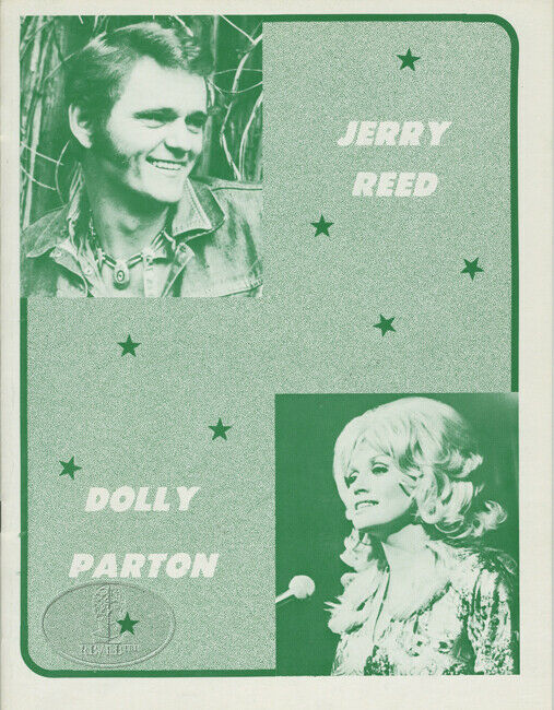 DOLLY PARTON Jerry Reed 1974 Souvenir Concert Program