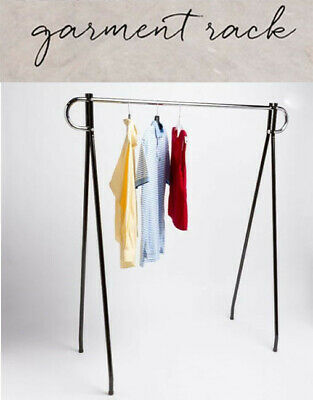 62x 19x 48 Height Commercial Single Bar Black Clothing Rack Retail Display