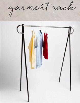 62x 19x 48 Height Commercial Single Bar Black Clothing Rack Retail Display
