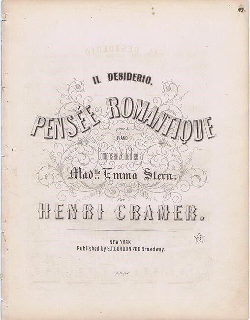 Il Desiderio Pensee Romantique, 1850
