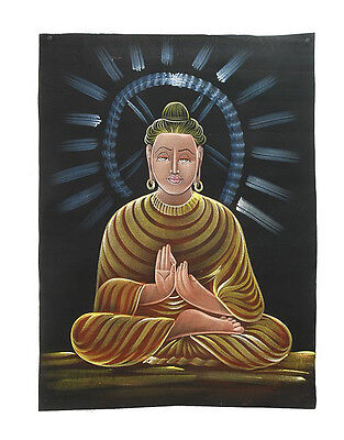 Batik Fabric of Buddha Painted 70x52cm Handmade 05