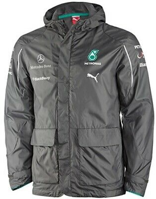PUMA MERCEDES AMG PETRONAS F1 2014 GREY HOODED WINDBREAKER (XXL 2XL)