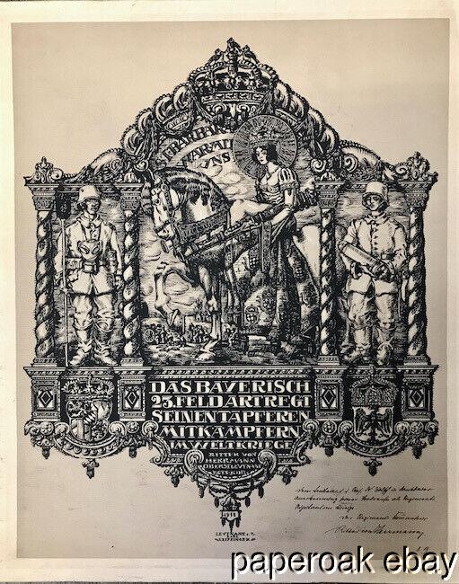 Original 1919 German World War I Certificate