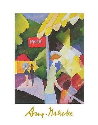 August Macke Das Modeschaufenster Poster Kunstdruck Bild 70x50cm