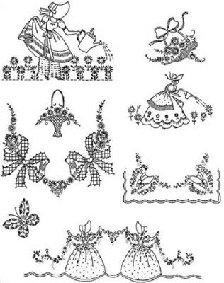 Hand Embroidery Designs - Southern Bells Iron-On Hand Embroidery Transfers-7 Designs