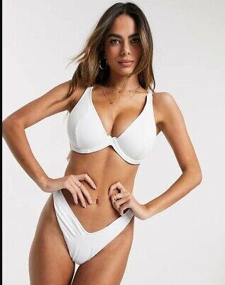 Asos Design Damen Bikini Oberteil BH Bügel weiß Gr. 80G