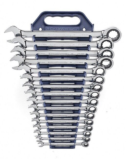 GearWrench 9416 16-Piece 12-Point Metric Combo Ratcheting Wr