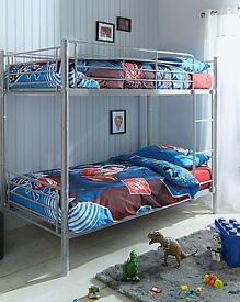 SALE! Value Santino 3FT Single Metal Bunk Bed Adult Children Kids- **DELIVERY AVAILABLE**