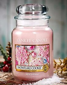 YANKEE CANDLE FESTIVE SNOWFLAKE COOKIE LARGE JAR 623g NEW