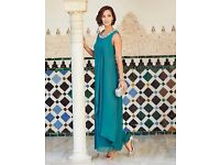 Mother Of The Bride Dress-Joanna Hope Bead Trim Size 22-Teal