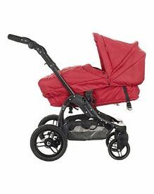Obaby ZeZU prammette in Red - As new. Still £300 in mothercare - Just £60