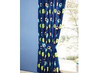 Blue Football Single Bed Duvet & Curtain set