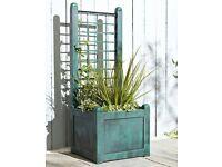New Boxed Narrow Trellis Planter