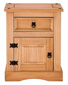 Brand new solid pine bedside table