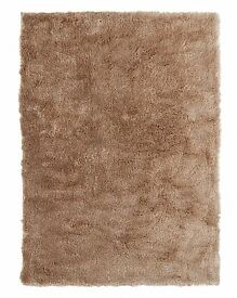 Shimmer Boutique Natural Shaggy Rug 120x170cm Brand New - Rrp £70