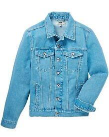 Mens Small Denim Jacket - Brand New