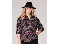 Wanted size 20 Simply Be Wrap Check shirt in the RED/Green colors,
