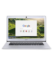 boxed and unused Acer 14 inch Chromebook silver.
