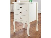 ANGELICA 3 DRAWER BEDSIDE TABLE