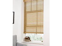 Premium wood-effect Venetian Blind extra wide [180cm x 160cm] 6ft x 5ft 3 inches