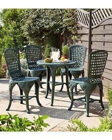 Brand new 5 piece PLIMLICO VERDIGRIS garden set