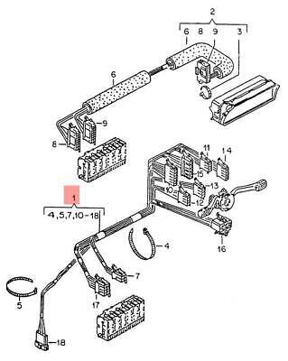 Genuine VW Wiring Harness For Steering Column Switch NOS VW Golf 165971063G