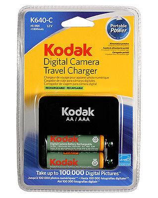 Kodak K640-C Digital Camera Travel Battery Charger with 2 Ni-Mh AA Batteries US