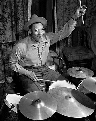 Portrait Of Jazz Drummer Sid Catlett 11x14 Silver Halide Photo Print