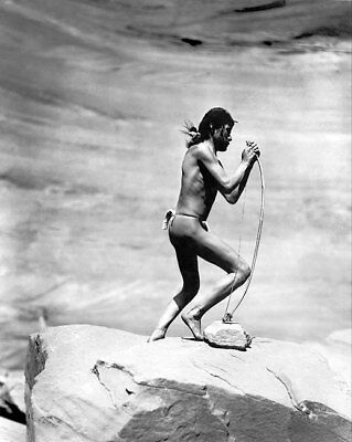 NAVAJO INDIAN STRINGING BOW 1913 11x14 SILVER HALIDE PHOTO PRINT