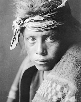 NAVAJO YOUTH EDWARD S. CURTIS PORTRAIT 1906 11x14 SILVER HALIDE PHOTO PRINT