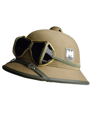 Tropenhelm WK2, WH, Helm Afrikakorps m. Emblem    -NEU-