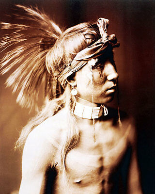 SHOWS AS HE GOES APACHE NATIVE AMERICAN INDIAN 11x14 SILVER HALIDE PHOTO PRINT