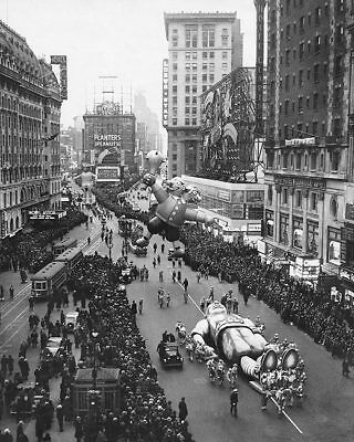 MACYS Erntedankfest Tag Parade Times Square 8x10 Silber Halogen Fotodruck