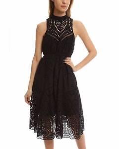 Zimmermann Harlequin Broderie Dress in Black Size 0 EUCStunn Bronte Eastern Suburbs Preview