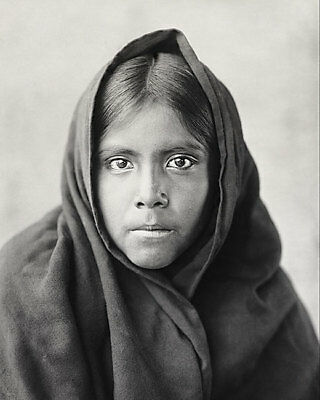 QAHATIKA GIRL NATIVE AMERICAN EDWARD S. CURTIS 11x14 SILVER HALIDE PHOTO PRINT