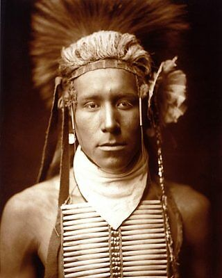 NATIVE AMERICAN EDWARD S. CURTIS PORTRAIT 11x14 SILVER HALIDE PHOTO PRINT