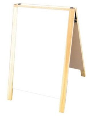 24 X 36 A-frame Hardwood Sidewalk Sandwich Board Dry Erase White Panels Sign