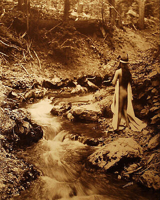 MAID OF DREAMS EDWARD S CURTIS NATIVE AMERICAN 11x14 SILVER HALIDE PHOTO PRINT