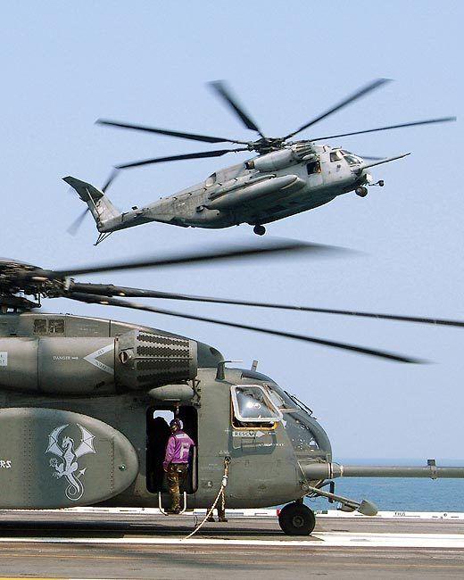 CH-53E SUPER STALLION AND MH-53 SEA DRAGON 11x14 SILVER HALIDE PHOTO PRINT